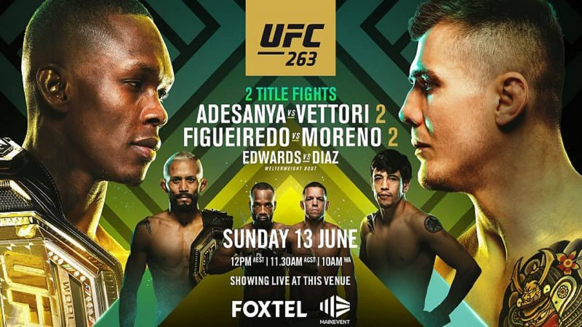 UFC-263-India-Time-Preview-Fight-Card